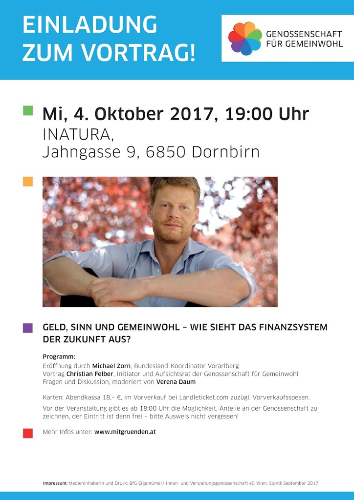 Christian Felber in Dornbirn